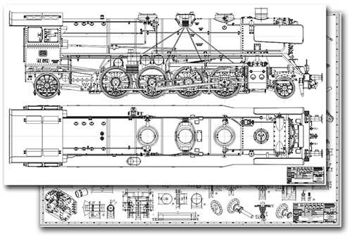 BR 41 Bauplan für den Modellbau